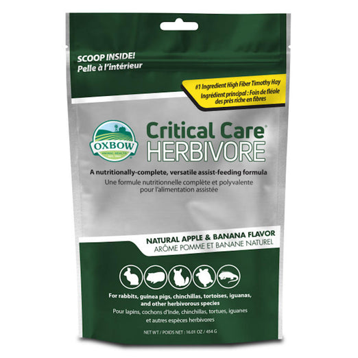10% OFF: Oxbow Critical Care Apple Banana Small Animal Recovery Food 454g - Kohepets