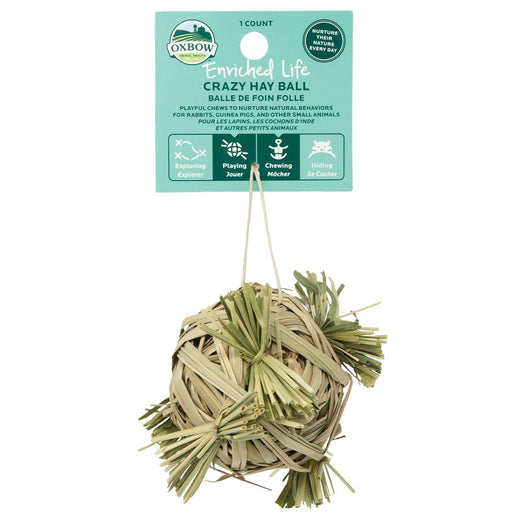 Oxbow Enriched Life Crazy Hay Ball For Small Animals - Kohepets