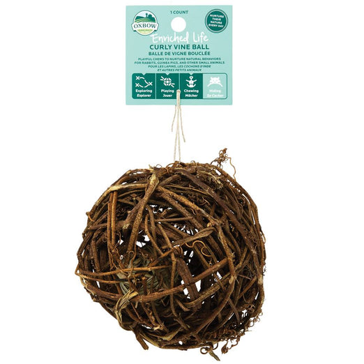 Oxbow Enriched Life Curly Vine Ball For Small Animals - Kohepets
