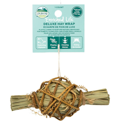 Oxbow Enriched Life Deluxe Hay Wrap For Small Animals - Kohepets