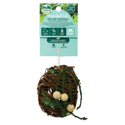 $2 OFF: Oxbow Enriched Life Deluxe Vine Ball For Small Animals - Kohepets