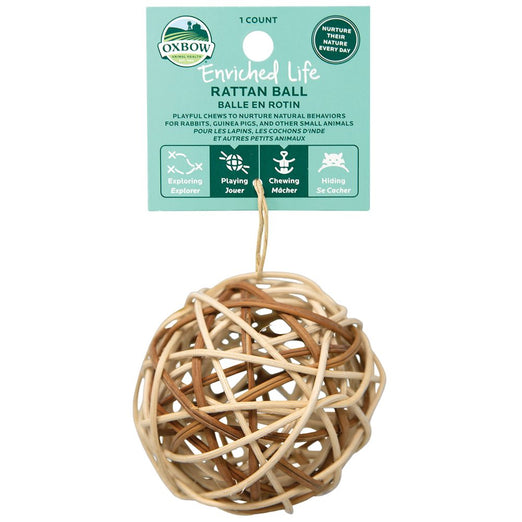 Oxbow Enriched Life Rattan Ball For Small Animals - Kohepets