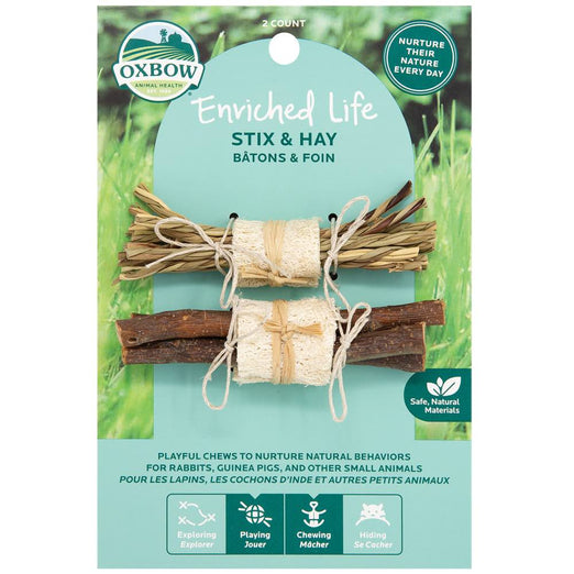 Oxbow Enriched Life Stix & Hay For Small Animals - Kohepets