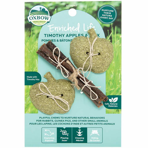 Oxbow Enriched Life Timothy Apple & Stix For Small Animals - Kohepets