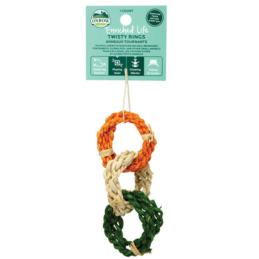 Oxbow Enriched Life Twisty Rings For Small Animals - Kohepets