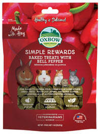 2 FOR $15.90: Oxbow Simple Rewards Baked Treats With Bell Pepper For Small Animals 85g