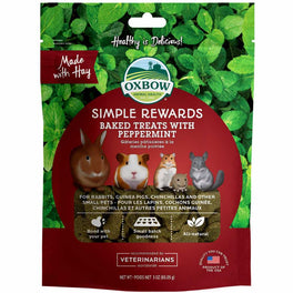 2 FOR $15.90: Oxbow Simple Rewards Baked Treats With Peppermint For Small Animals 85g