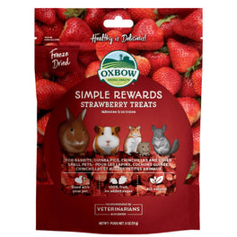 Oxbow Simple Rewards Strawberry Treats For Small Animals 15g