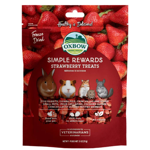 Oxbow Simple Rewards Strawberry Treats For Small Animals 15g - Kohepets