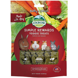 2 FOR $15.90: Oxbow Simple Rewards Veggie Treats For Small Animals 85g