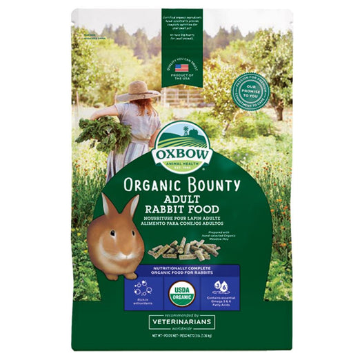 20% OFF: Oxbow Organic Bounty Adult Rabbit Food 3lb