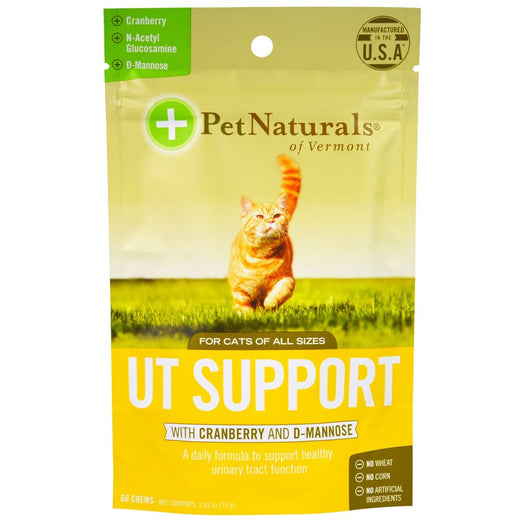 20% OFF: Pet Naturals of Vermont Urinary Tract Support with Cranberry For Cats 60 Soft Chews - Kohepets