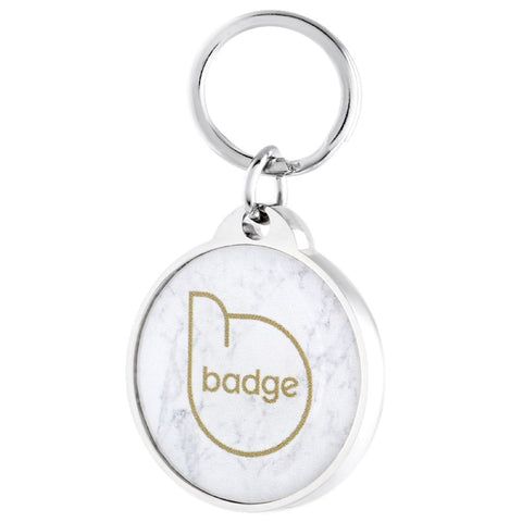 Pet Widget Badge Collar Tag (Marble) - Kohepets