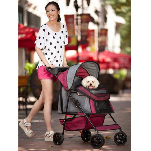 Petcomer Pet Stroller (Red)