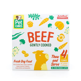 PetCubes Complete Beef Gently Cooked Frozen Dog Food 2.25kg