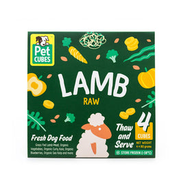 PetCubes Raw Lamb Frozen Dog Food 2.25kg