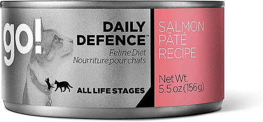 GO! Daily Defence Salmon Pâté Canned Cat Food 156g - Kohepets