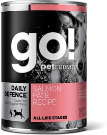 GO! Daily Defence Salmon Pâté Recipe Canned Dog Food 374g