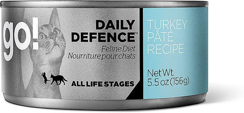 GO! Daily Defence Turkey Pâté Canned Cat Food 156g - Kohepets