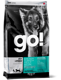 GO! Fit + Free Grain-Free Chicken, Turkey & Trout Recipe Dry Dog Food