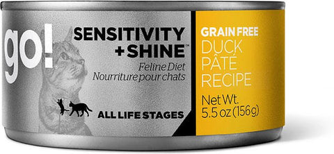 GO! Sensitivity + Shine Grain-Free Duck Pâté Recipe Canned Cat Food 156g - Kohepets