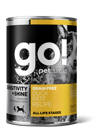 18% OFF: GO! Sensitivity + Shine Grain-Free Duck Pâté Recipe Canned Dog Food 374g