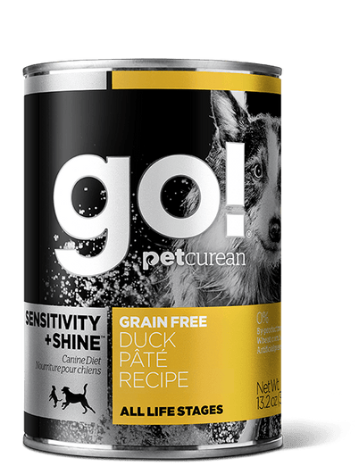 GO! Sensitivity + Shine Grain-Free Duck Pâté Recipe Canned Dog Food 374g - Kohepets