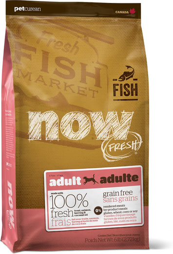 25% OFF: Now Fresh Grain-Free Fish Recipe Adult Dry Dog Food - Kohepets