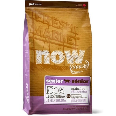 25% OFF: Now Fresh Grain-Free Senior Recipe Dry Cat Food - Kohepets
