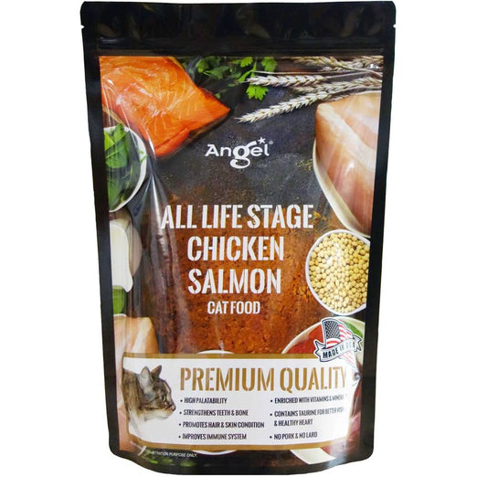 Angel All Life Stage Chicken Salmon Dry Cat Food