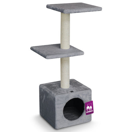 Petrebels Cheap Bastards Boston 90 Cat Tree (Grey) - Kohepets