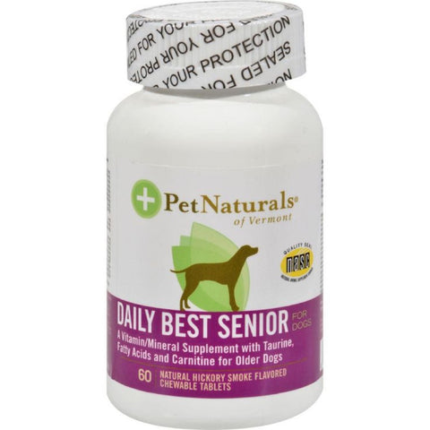 Pet Naturals of Vermont Daily Best Senior for Dogs 60 tabs - Kohepets