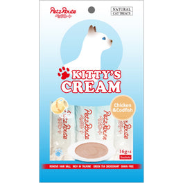 3 FOR $10: Petz Route Kitty's Cream Chicken & Codfish Cat Treats 64g