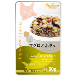 Petz Route Feast Tuna & Bonito Scallop Pouch Cat Food 60g