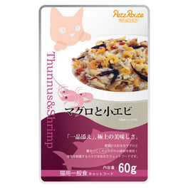 Petz Route Feast Tuna & Bonito Shrimp Pouch Cat Food 60g
