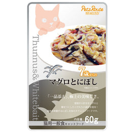 Petz Route Feast Tuna & Bonito Whitebait Senior Pouch Cat Food 60g