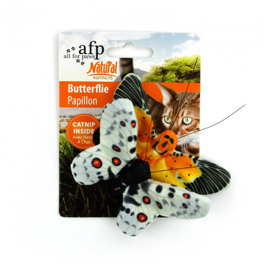 All For Paws Natural Instincts Butterflies 2pk Cat Toy