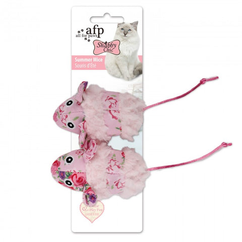 All For Paws Shabby Chic Summer Mice Cat Toy