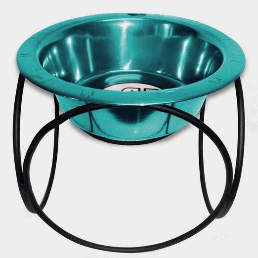 10% OFF: Platinum Pets Olympic Single Raised Feeder Wide Rimmed Dog Bowl 62 oz (8 Cups) - Kohepets