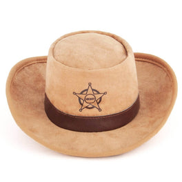 PLAY Mutt Hatter Sheriff Hat Plush Dog Toy