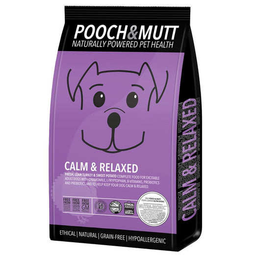 15% OFF (Exp 10 Dec): Pooch & Mutt Calm & Relaxed Grain Free Dry Dog Food 2kg