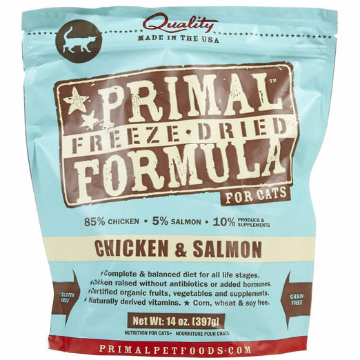 'BUNDLE DEAL: Primal Freeze Dried Feline Chicken & Salmon Formula Cat Food