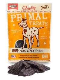 Primal Dry Roasted Pork Liver Snaps Dog Treat 4.25oz