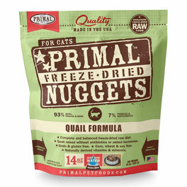 Primal Freeze Dried Feline Quail Formula Raw Cat Food 14oz