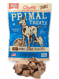 Primal Freeze Dried Pork Liver Munchies Dog & Cat Treat 2oz