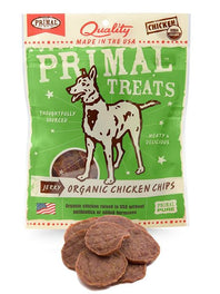 Primal Jerky Organic Chicken Chips Dog Treat 3oz