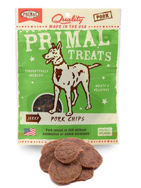 Primal Jerky Pork Chips Dog Treat 3oz