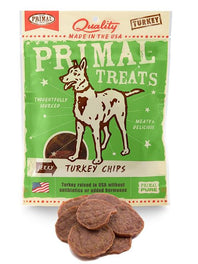 Primal Jerky Turkey Chips Dog Treat 3oz
