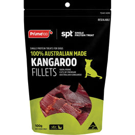 Prime100 Single Protein Treat Kangaroo Fillets Dog Treats 100g