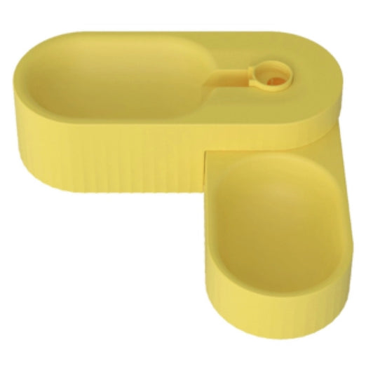 Pidan Dual Dog Bowl (Canary Yellow)